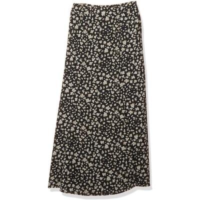 レイカズン ロングスカート 102230030, スモーキーフラワーナロースカート レディース 黒 日本 FREE (FREE サイズ)