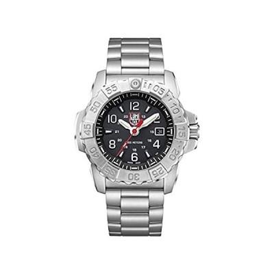 【送料無料】Luminox メンズ 腕時計 ネイビー シール スチール 3252 45mm ブラック ディスプレイ シルバー ステンレススチール 200 M 防水【並行輸入品】