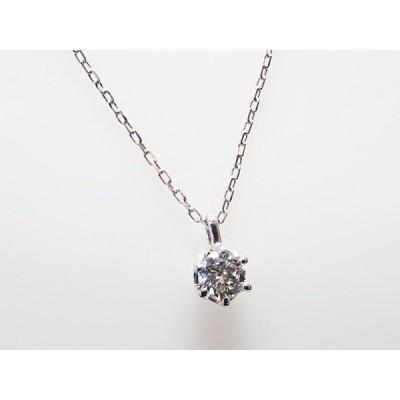1粒ダイヤ 0.104ct F SI1 VERYGOOD PT製 ダイヤモンドペンダント