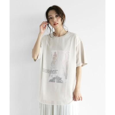 【ラシュッド】[soeur7] 【手洗い可】シースルー 転写フォトTシャツ