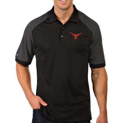 アンティグア Antigua メンズ ポロシャツ トップス Texas Longhorns Engage Performance Black Polo