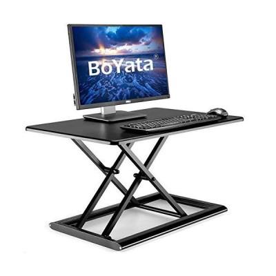 ?Boyata 昇降デスク 多機能 スタンディングデスク リフティングテーブル オフィスワークテーブル 高さ調整 座?