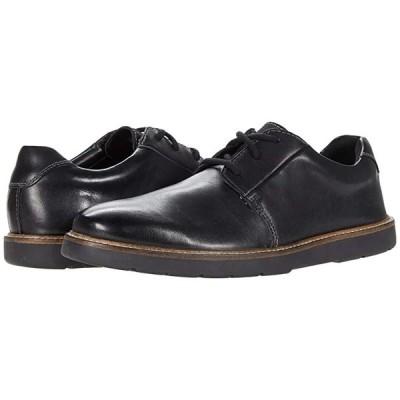 クラークス Grandin Plain メンズ オックスフォード Black Smooth Leather