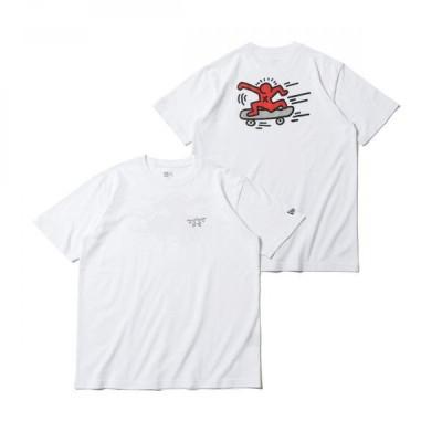 ニューエラ(NEW ERA) 半袖 コットン Tシャツ Keith Haring キース・へリング スケートボード レギュラーフィット 12674197