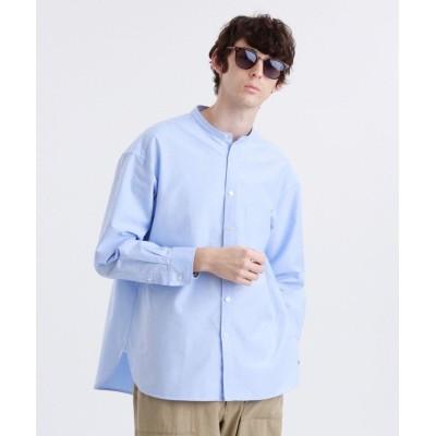 【マッキントッシュ フィロソフィー】 シャトルオックスビッグボディ バンドカラーシャツ メンズ ブルー 36(S) MACKINTOSH PHILOSOPHY