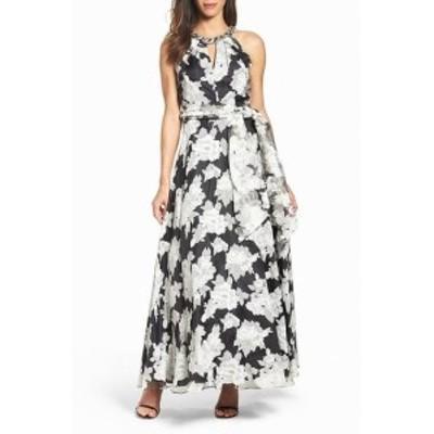 Eliza J エリザジェイ ファッション ドレス Eliza J Womens Dress White Black 12 Gown Floral Print Embellished n$308 #259
