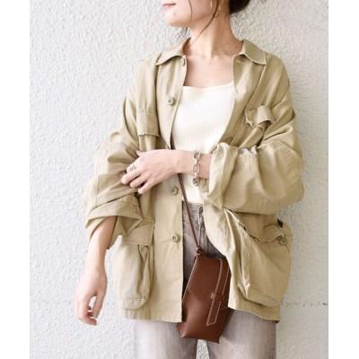 SHIPS for women / 【WEB限定】ROTHCO:B.D.Uシャツ with belt◆ WOMEN ジャケット/アウター > ミリタリージャケット