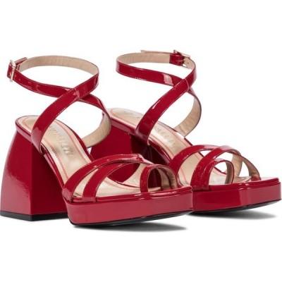 ノダレト Nodaleto レディース サンダル・ミュール シューズ・靴 bulla siler patent leather sandals Red Corvette