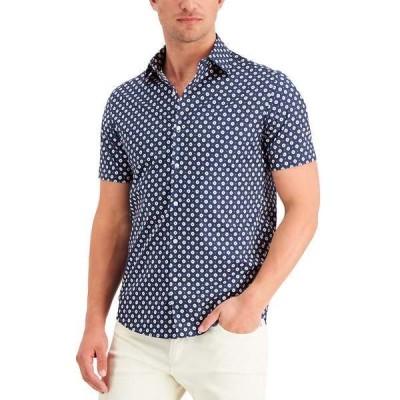 マイケルコース シャツ トップス メンズ Men's Foulard Print Slim-Fit Shirt Dark Midnight