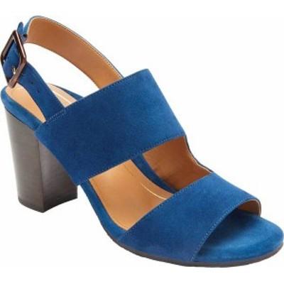 バイオニック レディース サンダル シューズ Bianca Backstrap Heeled Sandal Dark Blue Suede