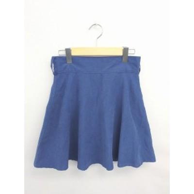 【中古】ダブルクローゼット w closet スカート フレア ひざ丈 無地 シンプル 薄紫 パープル /TT42 レディース