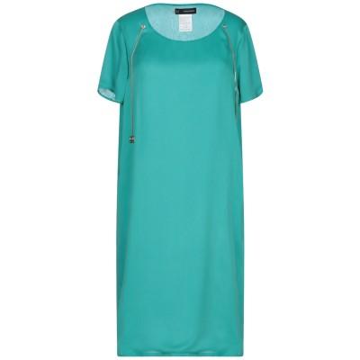 ディースクエアード DSQUARED2 ミニワンピース&ドレス ターコイズブルー 42 シルク 100% / 牛革(カーフ) ミニワンピース&ドレス
