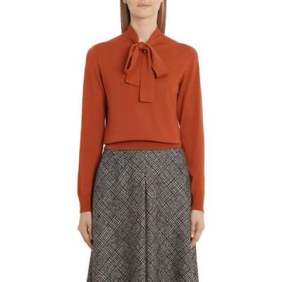 ドルチェ&ガッバーナ DOLCE&GABBANA レディース ニット・セーター トップス Tie Neck Wool Sweater Burnt Orange