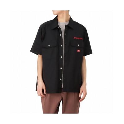 【マックハウス】 Dickies ディッキーズ ツイル無地ワークシャツ 1270-9400 メンズ ブラック L MAC HOUSE