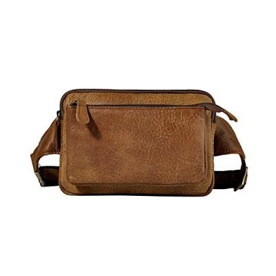 Le'aokuu Men Real Leather Sling Messenger Bag Waist Belt Pack Hip Bum Bag Tote 2074 (The 2100 brown)【並行輸入品】