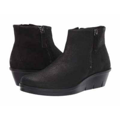 ECCO エコー レディース 女性用 シューズ 靴 ブーツ アンクル ショートブーツ Skyler Side Zip Bootie Black Cow Nubuck【送料無料】