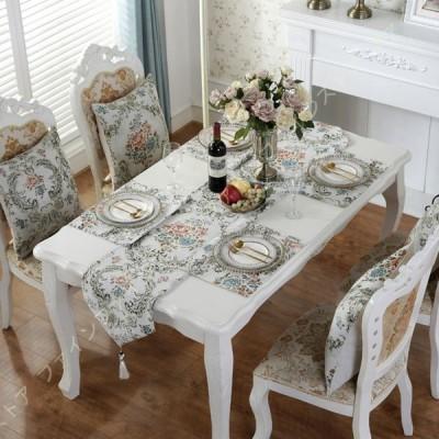 テーブルランナー 33x180cm 北欧風 タッセル付き テーブルランナー 食卓飾り 和式 お食事マット 防汚 断熱 滑り止め テーブル装飾 結婚式装飾