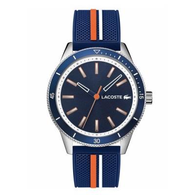 ラコステ LACOSTE クオーツ メンズ 腕時計 2011007 KEY WEST シルバー ネイビー ラバー