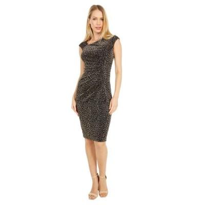 ユニセックス スカート ドレス Metallic Knit Bodycon Dress