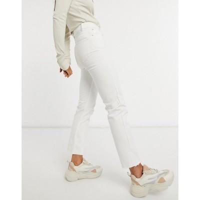 ブレイブソウル Brave Soul レディース ジーンズ・デニム ボトムス・パンツ fran high waisted mom jeans in white ホワイト