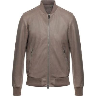 マスターペレ MASTERPELLE メンズ レザージャケット アウター Leather Jacket Khaki