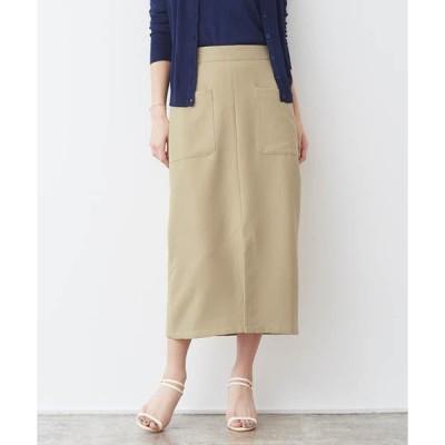スカート サイドポケット Iラインロングスカート