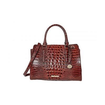 Brahmin レディース 女性用 バッグ 鞄 ハンドバッグ サッチェル Melbourne Small Finley Satchel - Pecan