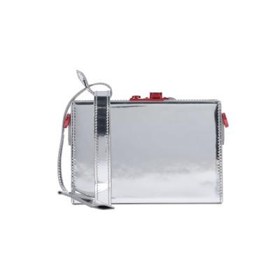CALVIN KLEIN 205W39NYC ハンドバッグ シルバー 革 ハンドバッグ