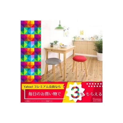 ダイニングテーブルセット 2人用 1Kでも置ける横幅68cmコンパクトダイニングセット 3点セット テーブル+スツール2脚 ナチュラル W68 5000296247