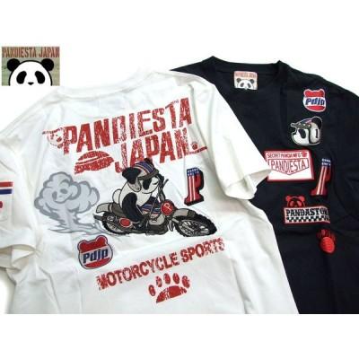 pandiesta ダートレースパンダtシャツ 熊猫足型ポケットtシャツ 529205 パンディエスタ PANDIESTA2019