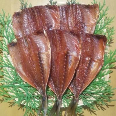 長崎県産 ひもの 魚 お取り寄せ グルメ ギフト 山道水産 真あじ桜干し(無頭)70g×5枚