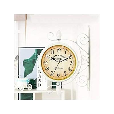Lailuaxoa Retro Double Sided Wall Clock, Modern Wall-Mounted Clock, Europea 並行輸入品