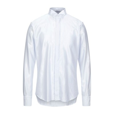 LANCETTI シャツ ホワイト 40 コットン 60% / レーヨン 40% シャツ