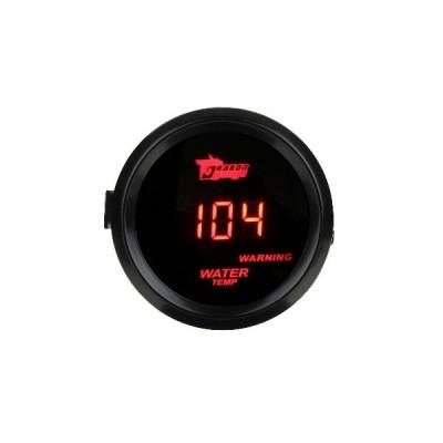 2  52mmの黒い車のトラックのデジタル赤いLED水温温度LEDゲージキットAU