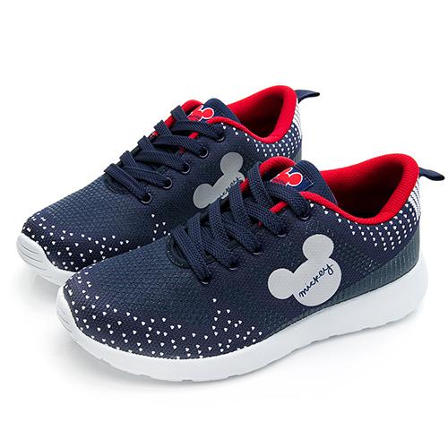 DISNEY 經典潮流 米奇點點休閒鞋-藍紅(DW5636)