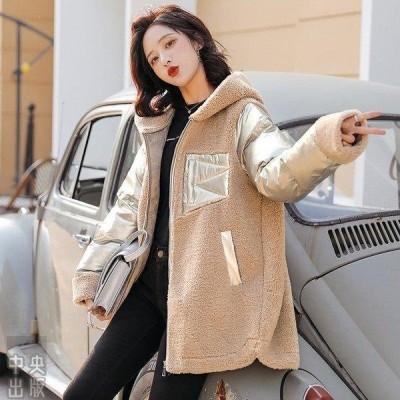 レディース 中綿 コート ジャケット アウター 無地 フード付き 冬 暖かい 軽い   ファッション 大きいサイズ 30代 40代 防寒 コート
