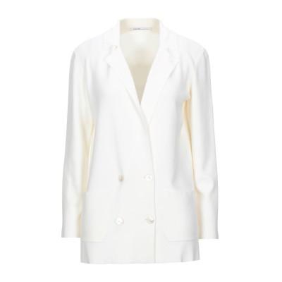 アニオナ AGNONA テーラードジャケット ホワイト XS ウール 100% テーラードジャケット