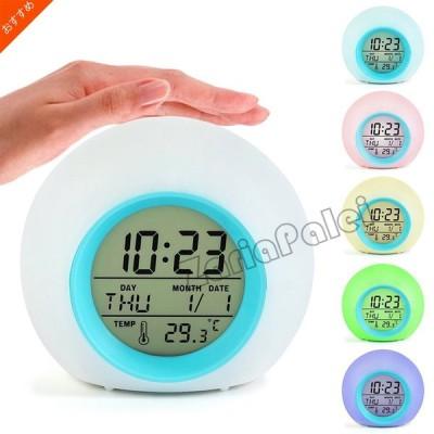 時計 置時計 カレンダー 温度 デジタル 目覚まし時計 アラームクローク インテリア おしゃれ