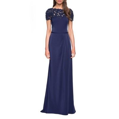 ラフェム レディース ワンピース トップス Laser-Cut Flower Jersey Short-Sleeve Gown
