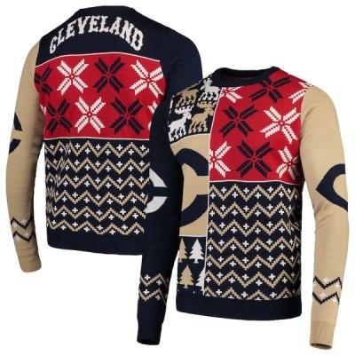 """メンズ セーター """"Cleveland Indians"""" Retro Sweater - Navy"""