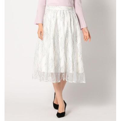 【ミューズ リファインド クローズ/MEW'S REFINED CLOTHES】 レースギャザーフレアスカート
