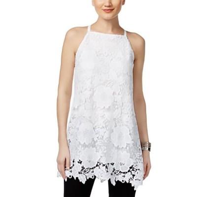 レディース 衣類 トップス ALFANI Lace Women Top Sleeveless WHITE 16 ブラウス&シャツ