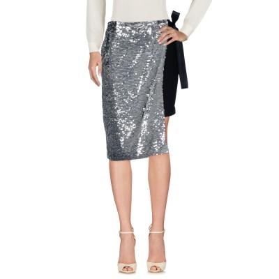 ピンコ PINKO 7分丈スカート シルバー 38 100% ナイロン 7分丈スカート