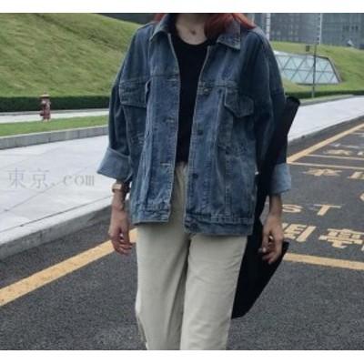 【送料無料】デニム アウター レディース トップス レディースコート 大きいサイズ ショートジャケット ワイド着痩せ 大人気