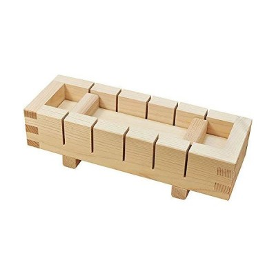 ヤマコー ひのき・押寿司器 六ツ切 小 79247 外寸:約21×7.5×H5.8cm、内寸:約18×4.3×H3cm