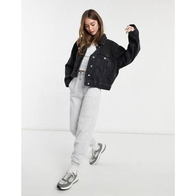 エイソス レディース ジャケット・ブルゾン アウター ASOS DESIGN organic denim '90's jacket in washed black