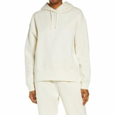 ナイキ NIKE レディース パーカー トップス Sportswear Fleece Hoodie Coconut Milk/White