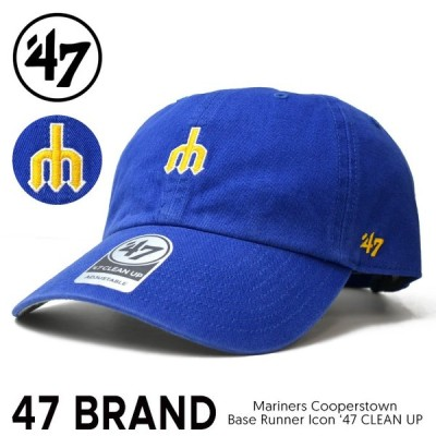 47BRAND フォーティーセブン ブランド MARINERS COOPERSTOWN BASE RUNNER ICON 47 CLEAN UP CAP クリーンナップ キャップ 帽子