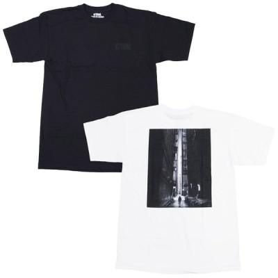 V/SUAL ヴィジュアル ビジュアル JASON M PETERSON LANE TEE 2色 半袖Tシャツ カットソー 黒 ブラック 白 ホワイト