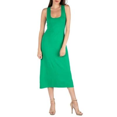 24セブンコンフォート レディース ワンピース トップス Women's Scoop Neck Maxi Dress